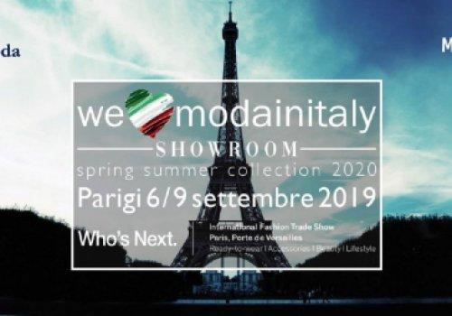 CNA Federmoda promuove il progetto WeLoveModainItaly SHOWROOM, area collettiva alla fiera WHO'S NEXT di Parigi