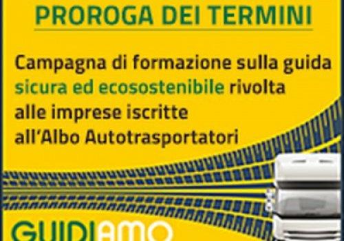 Campagna di formazione sulla guida sicura: termine di presentazione domande  prorogato sino alle ore 12 del 30 Settembre 2019
