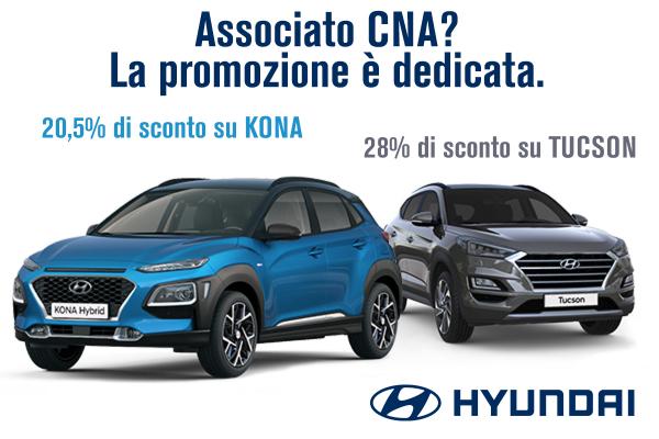 Con Hyundai tra il 20 e il 28% di sconto su Kona  eTucson grazie a CNA