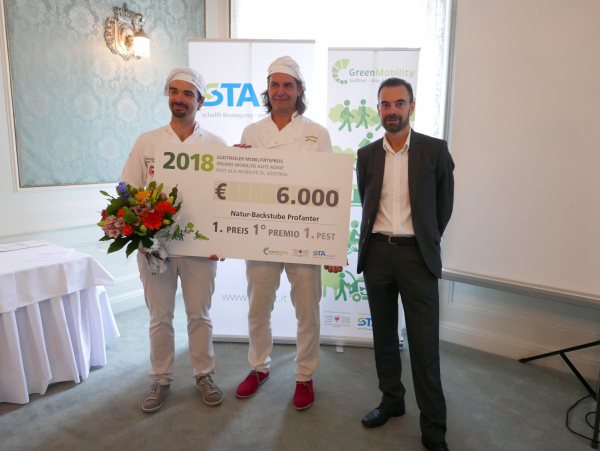 Natur-Backstube Profanter gewinnt Südtiroler Mobilitätspreis 2018