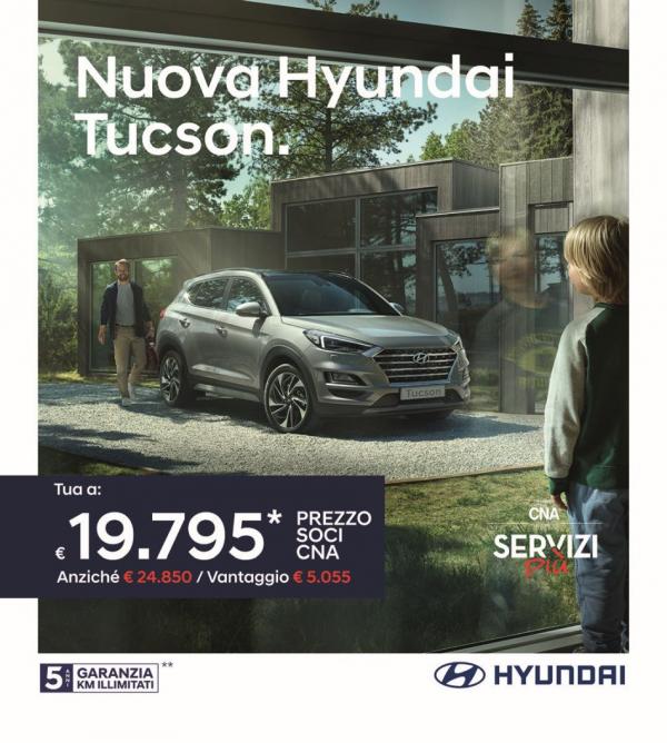 CNA rinnova la partnership con Hyundai: extrasconto del 3% oltre la promozione del momento. Promo Tucson per gli associati a meno di 20mila euro