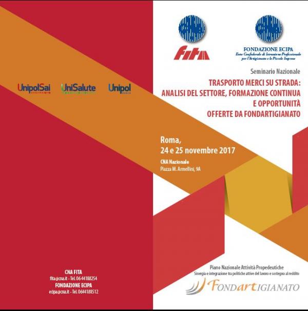 CNA Fita, il 24 e 25 novembre si terrà la conferenza organizzativa