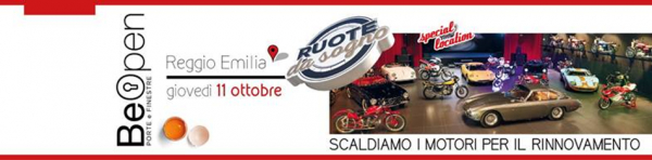 BeOpen LegnoLegno. Scaldiamo i motori per il rinnovamento. L'11 ottobre a Reggio Emilia. Ecco come prenotare