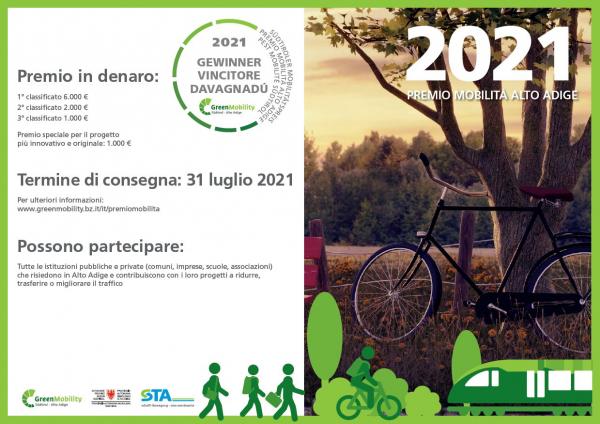 Candidatura per il Premio Mobilità Alto Adige 2021- CNA-SHV è partner