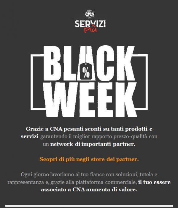 Scopri le tante opportunità per gli associati CNA e approfitta della black week